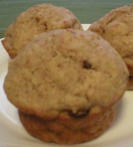 Delicious Moist Muffin made with less oil, sweetened with fruit
