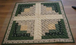 Handmade quilted table topper