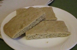 Gluten Free and Yeast Free Flatbread