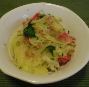 Spaghetti Squash with Italian Vegetables and Herbs