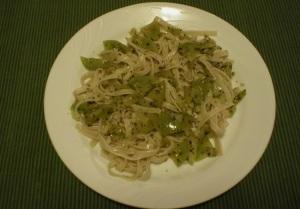 Green Tomato Pasta Topping