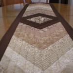 Handmade Quilted Table Runner (long view)