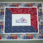 Embroidered Wall Hanging (God Bless America 5873)