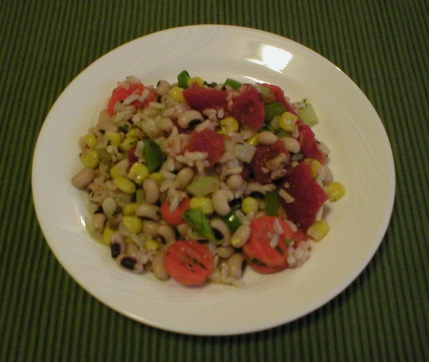 Blackeye Peas with Rice and Vegetables (Meatless Hoppin' John)