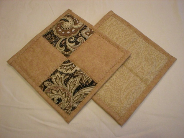 Handmade Quilted Hot Pads, Pot Holders (Set of 2)