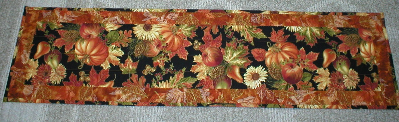 New Fall Harvest Table Runner