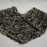 Black with Beige Yarn Scrubby Set