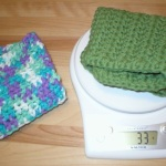 weight of traditional cotton dishcloth