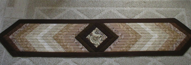 "Handmade Quilted Table Runner 74-1/2"" Long"