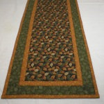 Long view of handmade quilted table runner 5613