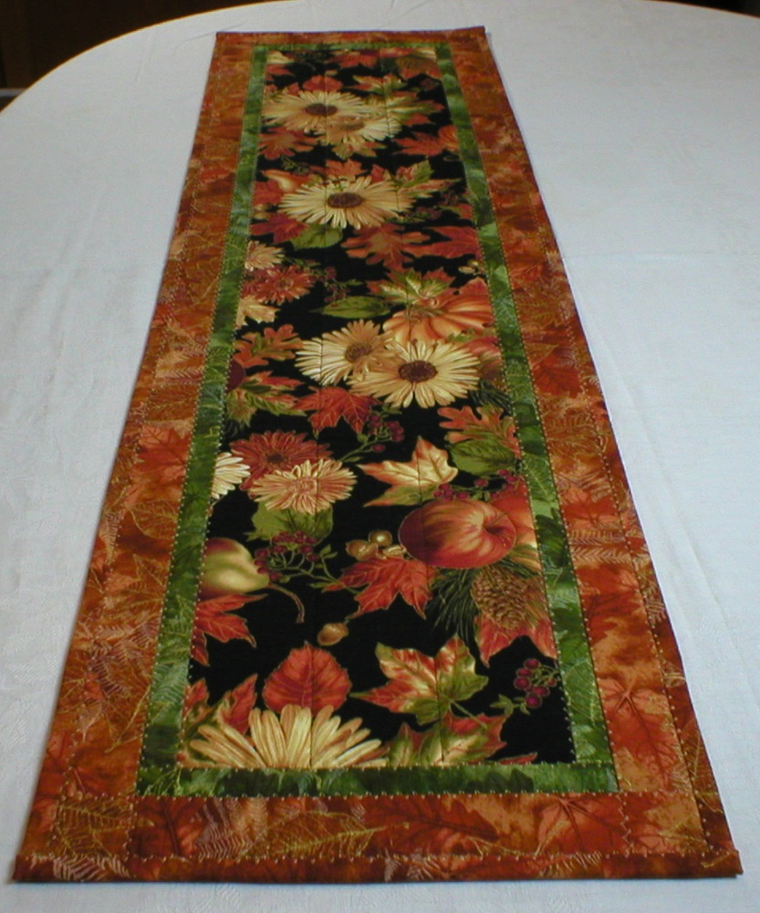 table ulla with flowers runner quilted quilt s world