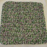 "Dishcloth made with ""Vineyard"" marls yarn"