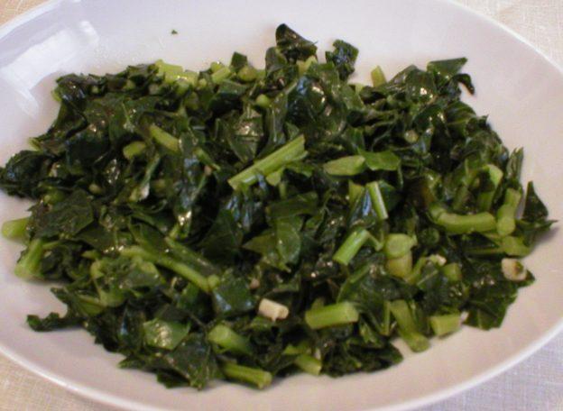 Sauteed Kohlrabi Greens