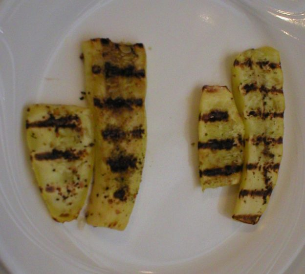 Oil vs No Oil Grilled Yellow Squash