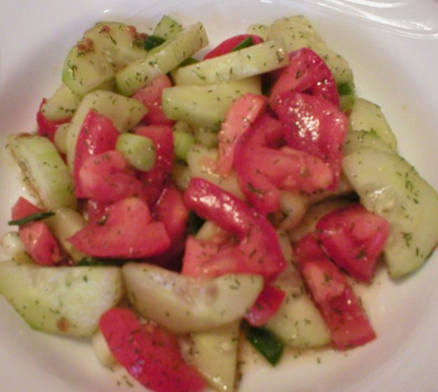 Cucumber Tomato Salad with Dill