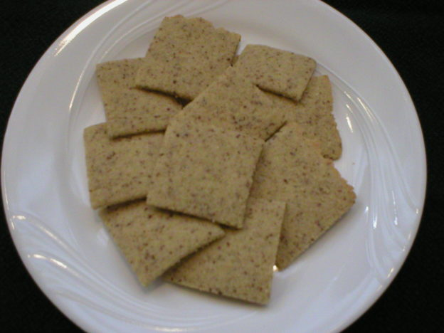 Almond Rice Crackers