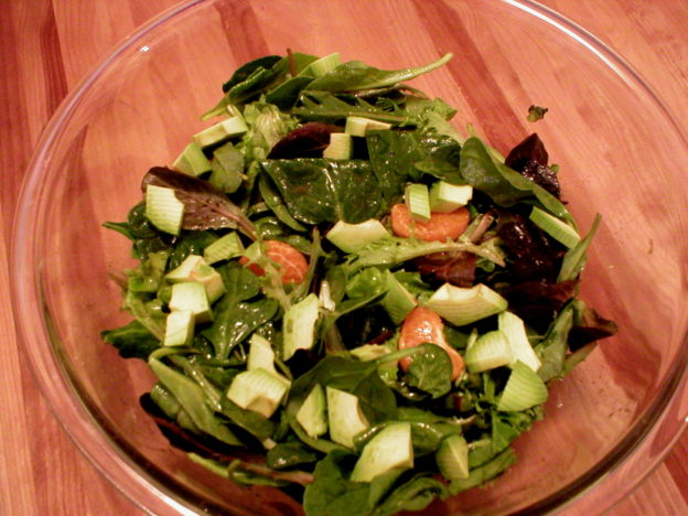 Orange Balsamic Dressing Over Spring Mix Salad