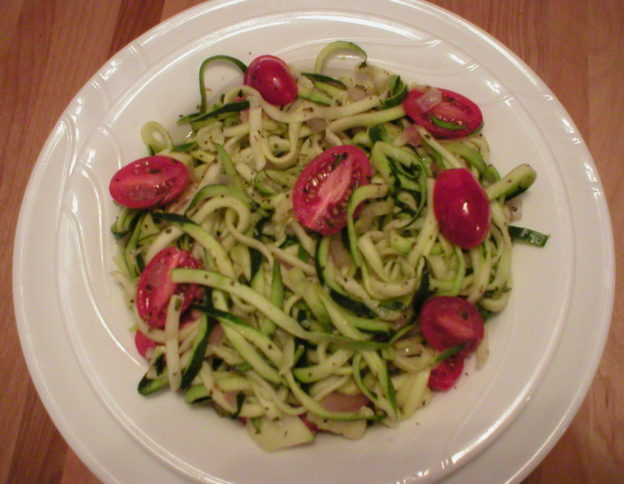 Zucchini with Italian Herbs and Tomatoes
