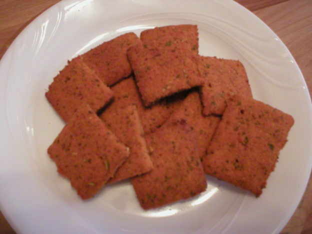 Chickpea Tomato Herb Crackers