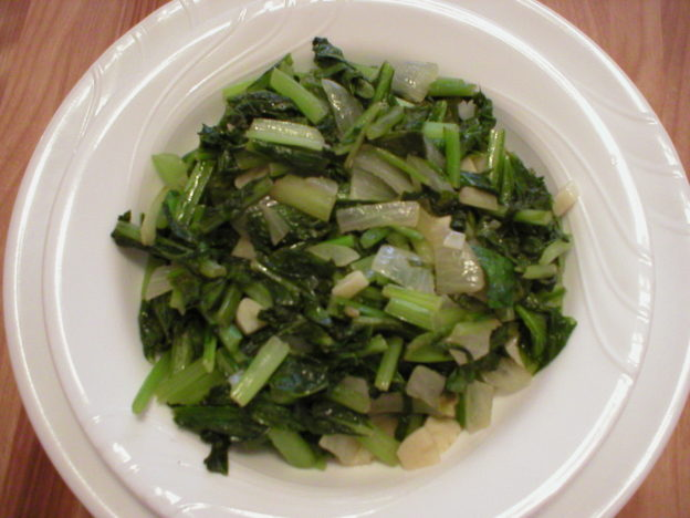 Easy Sauteed Turnip Greens