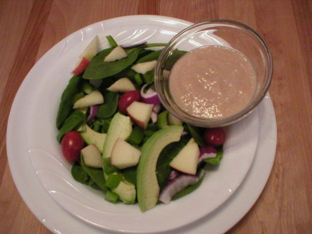 Easy Spinach Salad with Pineapple Dressing