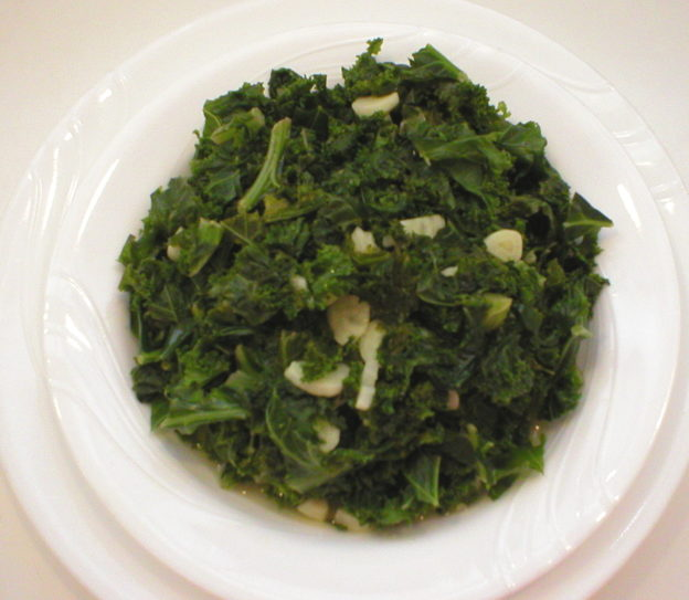 Simple Stir-Steamed Kale (Oil Free)